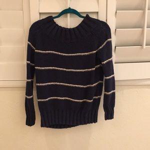 Blue striped billabong sweater